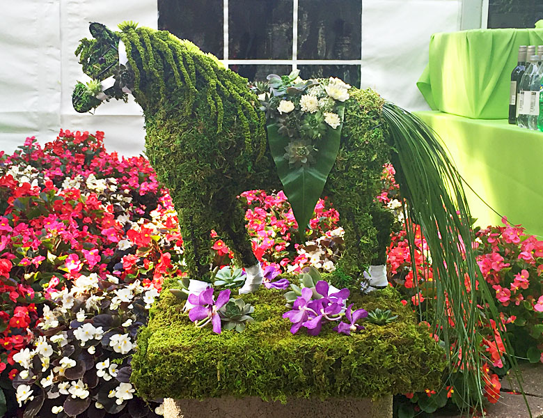Belmont Bar Horse Centerpiece