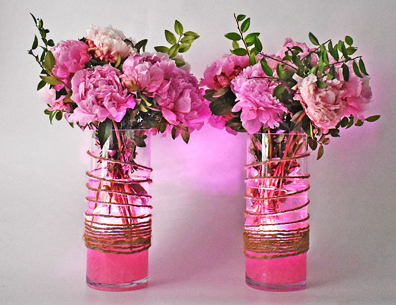 Duty Free Event Peonies Centerpiece