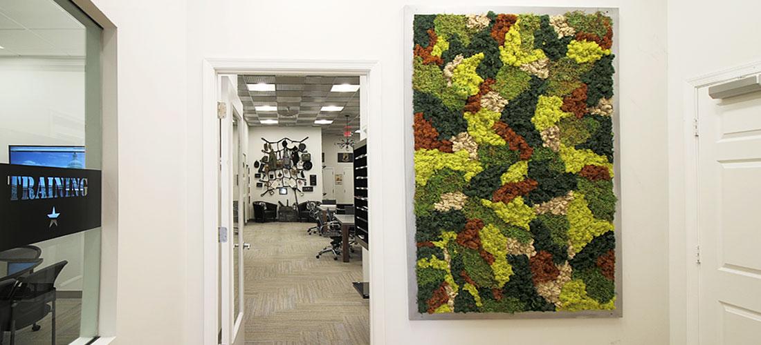 Moss Wall Art Camouflage
