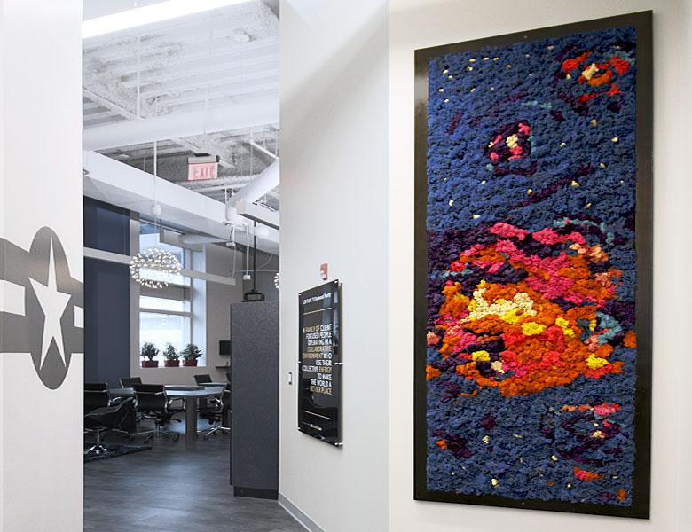 Galaxy Moss Wall Art