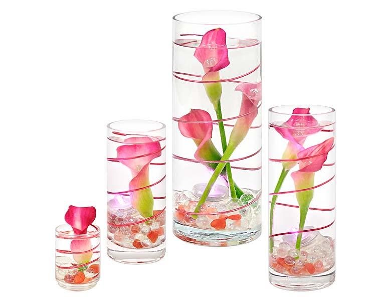 Tea Swirl Calla Lily Terrarium Set