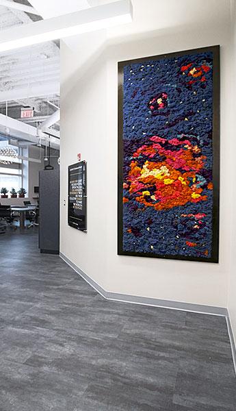 Luludi Living Art Galaxy Moss Wall Art