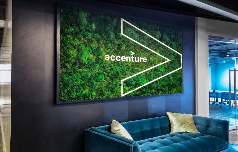 Luludi Living Art Accenture Moss Wall Signage