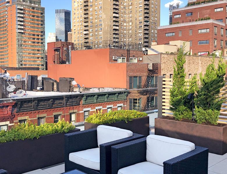 Luludi Living Art 540 West 49 St Rooftop Garden Potted Plants
