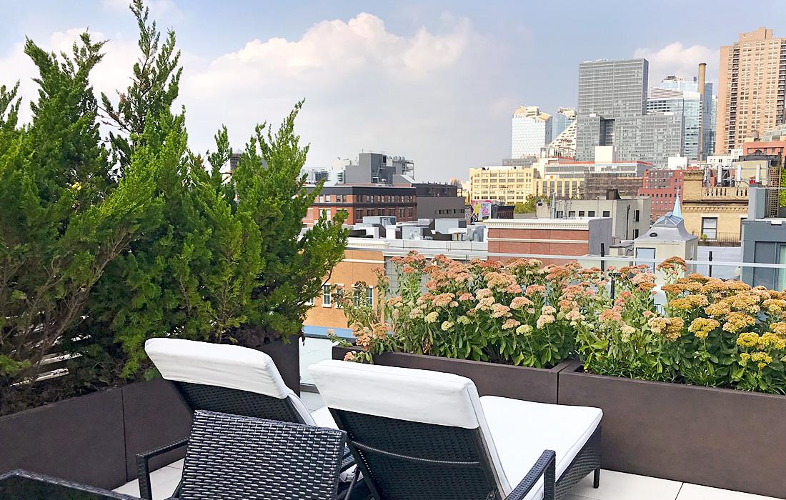 Luludi Living Art 540 West 49 St Rooftop Garden