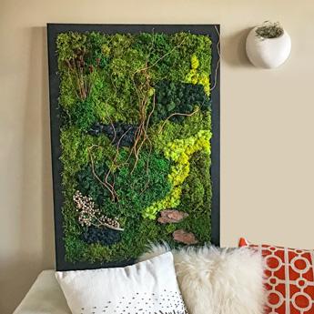 Luludi Living Art Moss Wall Art Vertical Greens