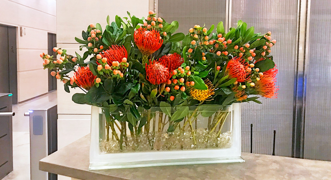 Luludi Living Art 530 Fifth Ave NYC Floral Display